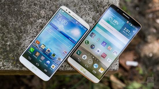 Cuộc chiến đọ màn hình giữa LG G3 và LG G2