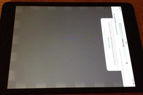 """Lỗi """"bóng ma"""" trên màn hình iPad Mini 1,2,3."""