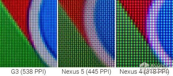 """Dưới kính hiển vi, màn hình LG G3 bị khá nhiều""""rổ hạt""""."""