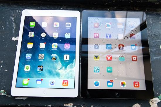Màn hình iPad Air 2 sẽ có lớp chủ chống ánh nắng mặt trời.