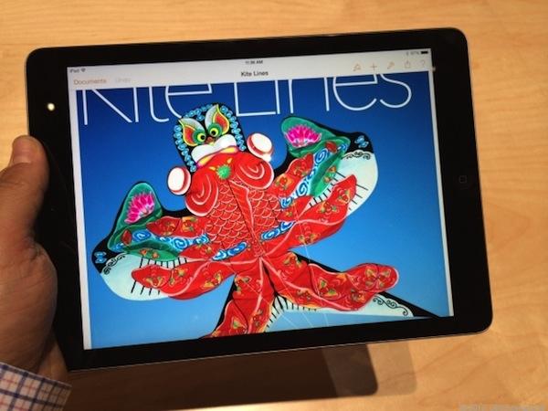 Màn hình iPad Air 1,2 hiển thị rõ nét.