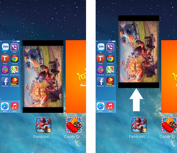 Ứng dụng ngầm quá nhiều cũng có thể làm cho màn hình iPhone 5,5S bị giật.