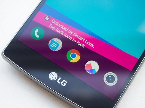Hướng dẫn sử dụng LG G4 với khóa Smart Lock: Nhập mật mã mở khóa rồi NEXT (trong hình chúng ta nhập mã Knock Code).