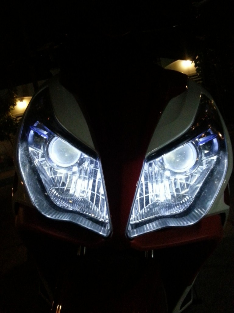 đèn gương cầu
