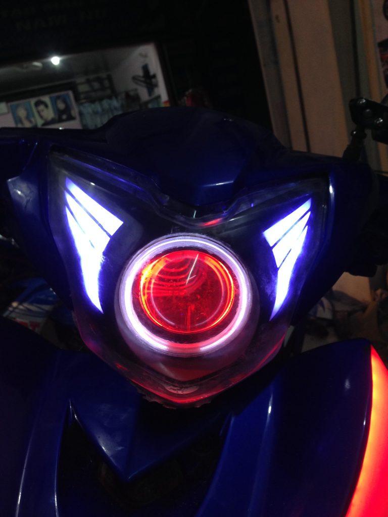 độ đèn xe máy exciter