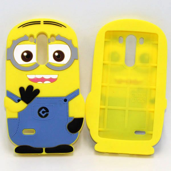 For-LG-G3-S-Case-3D-Soft-Rubber-Despicable-Me-2-Minions-Silicone-Cell-font-b