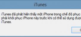 Fix lỗi iPhone 6 bị vô hiệu hóa do quên mật khẩu?