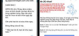 Làm gì khi điện thoại báo lỗi dính virus và rung liên tục khi lướt web?
