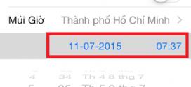 Hoang mang iPhone 5,5S mắc bệnh sai ngày giờ