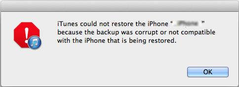không thể restore iPhone bằng iTunes