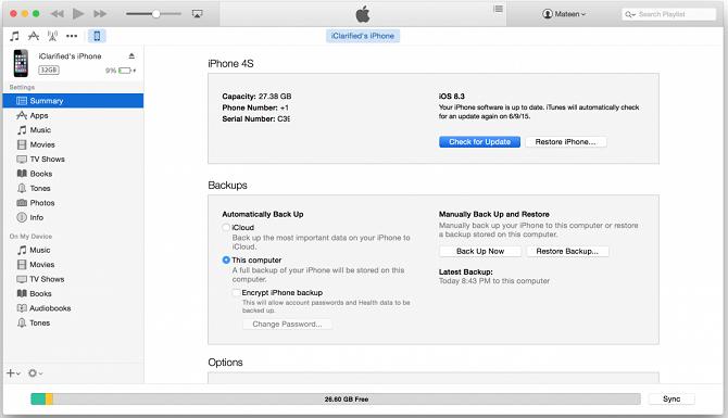 update iOS trên iTunes
