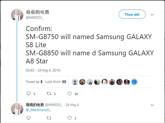 Samsung Galaxy A8 Star, Galaxy S8 Lite