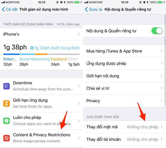 Kiểm soát thời gian sử dụng iPhone 6