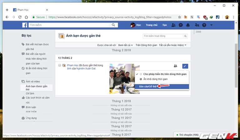 Những cách giúp xóa nhanh và triệt để tất cả hình ảnh và status đã đăng trên Facebook mà không sợ mất tài khoản - Ảnh 12