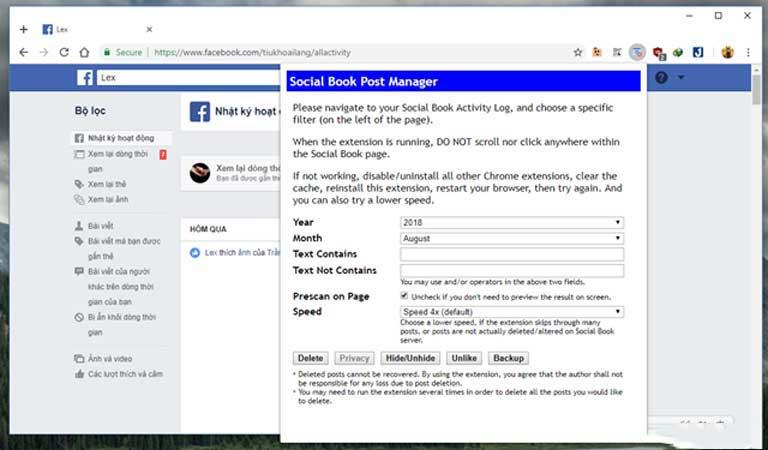 Những cách giúp xóa nhanh và triệt để tất cả hình ảnh và status đã đăng trên Facebook mà không sợ mất tài khoản - Ảnh 4