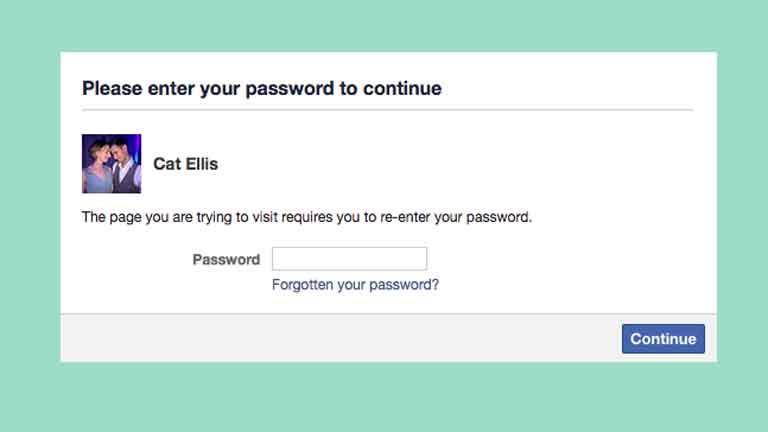 Khi bạn đã nhập mật khẩu, sẽ không quay lại
