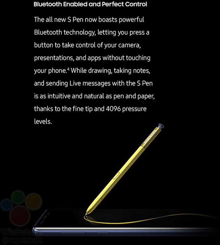 Thông tin về những tính năng mới của bút S Pen trên Galaxy Note 9