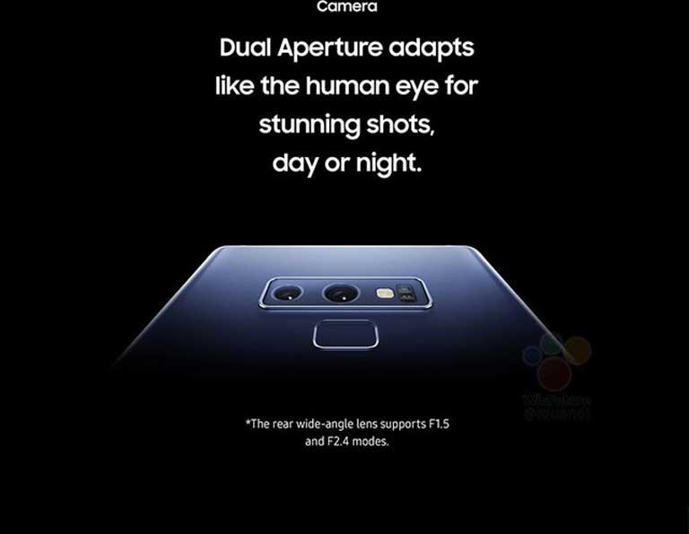 Vị trí cảm biến vân tay trên Galaxy Note 9 đã có sự khác biệt rõ rệt so với Galaxy Note 8