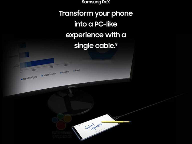 Samsung DeX mang tới trải nghiệm Galaxy Note 9 như trên máy tính