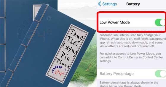 Cáchluyện công tăng thời lượng pin iPhone lên 36 giờ cách 2