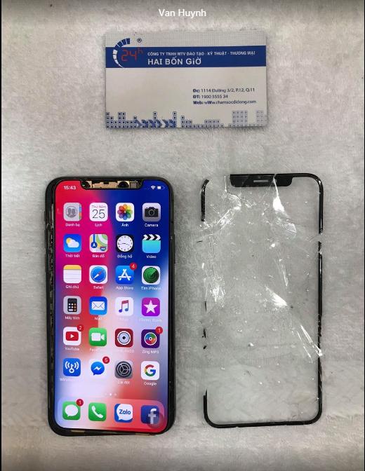"""giá thay màn hình iPhone X ở đâu rẻ nhất để không bị """"viêm túi"""""""