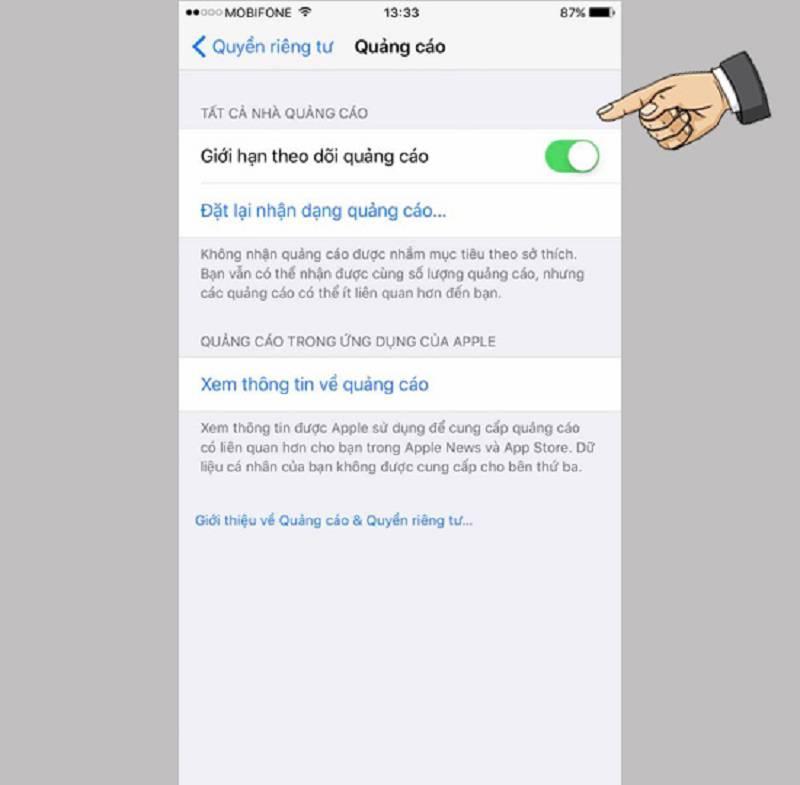 Cách chặn quảng cáo trên điện thoại iOS