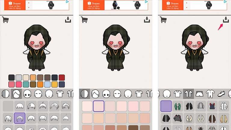 tạo avatar Chibi cực cute cho các máy Android/IOS chỉ trong 1 phút