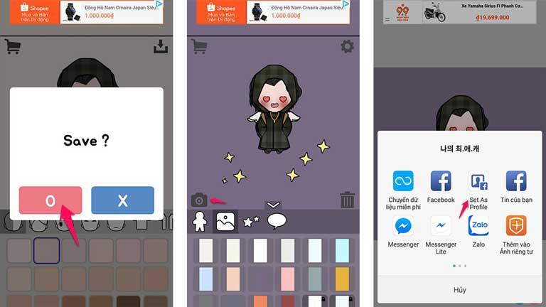Tạo avatar Chibi cực cute cho các máy Android/IOS chỉ trong 1 phút hình 1