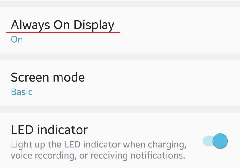 LED indicator và Always On Display là những tính năng có ích những cũng khá tốn pin