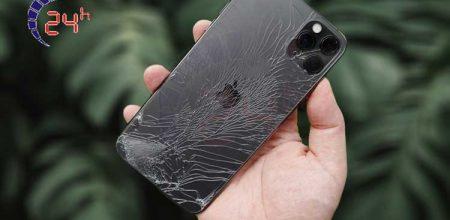 iPhone 11 bị vỡ nát mặt kính sau lưng