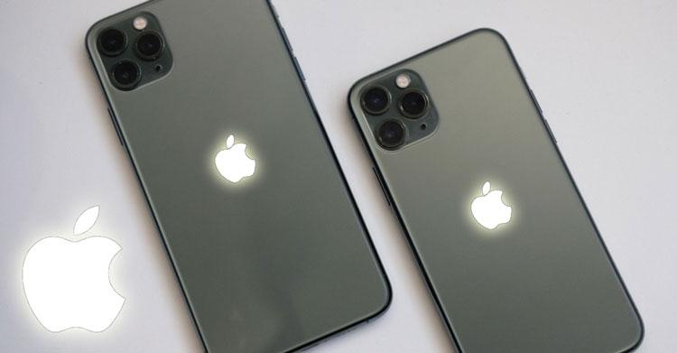 iPhone có logo phát sáng