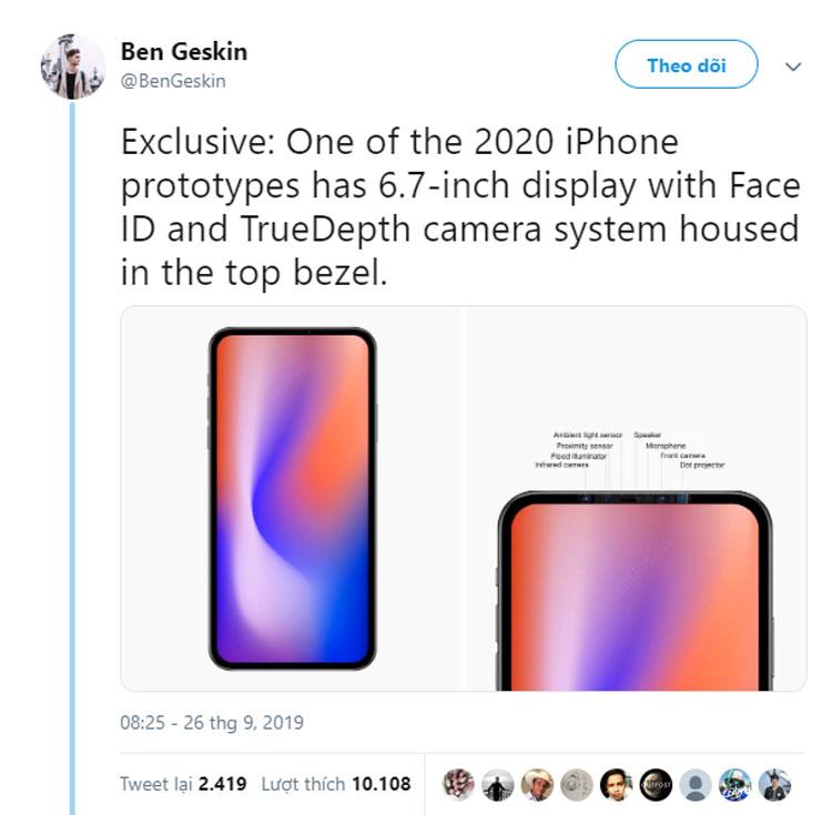 iPhhone mới sẽ không có tai thỏ