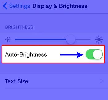 kích hoạt độ sáng tự động