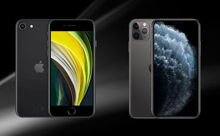 iPhone SE 2020 và iPhone 11
